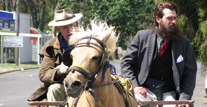 Re-enactment at Euroa