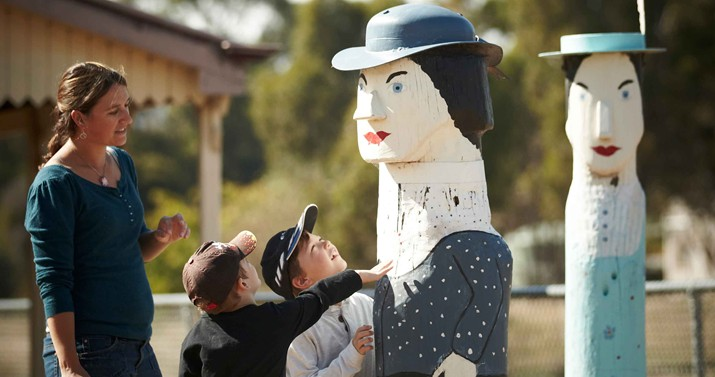 Family Visit to Glenrowan