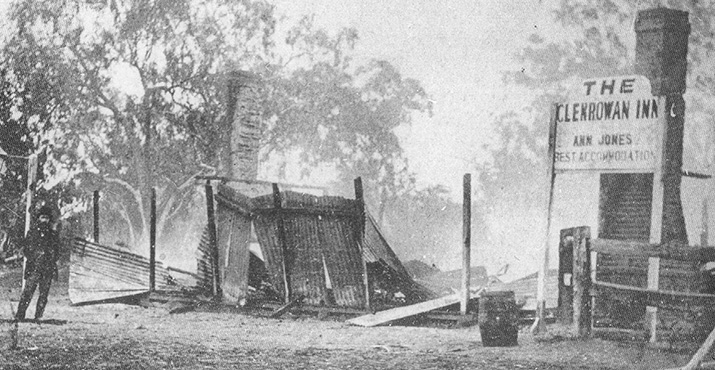 Glenrowan Inn Just After Burning Down